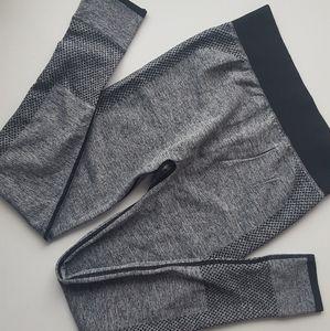 Pants - 4/$40-Grey black spandex legging size small medium